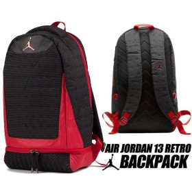 ナイキ ジョーダン 13 バックパック NIKE JORDAN RETRO 13 BACKPACK black/gym red 9a1898-kr5 リュック AJXIII カバン バッグ PCスリーブ
