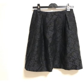 【中古】 トゥモローランド TOMORROWLAND スカート サイズ38 M レディース 黒 ダークブラウン ブルー