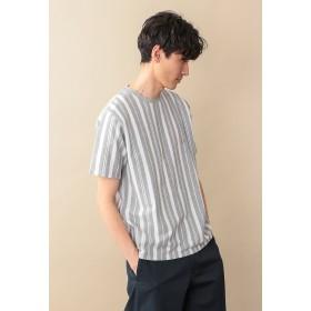 MACKINTOSH PHILOSOPHY 【WEB限定】サーフニットストライプ MPクルーネックTシャツ Tシャツ・カットソー,チャコールグレー