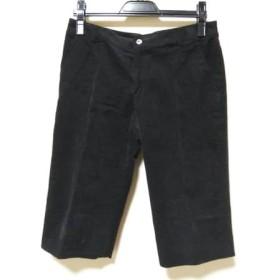 【中古】 バーバリーゴルフ BURBERRYGOLF パンツ サイズ9 M レディース 黒 コーデュロイ