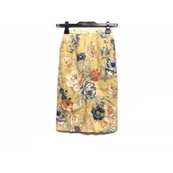 【中古】 バーバリーズ Burberry's スカート サイズ5 XS レディース イエロー ブルー マルチ 花柄