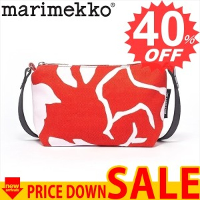 マリメッコ バッグ ショルダーバッグ MARIMEKKO HELI KATLEIJA CNY 047006  330 RED/PINK 比較対照価格19,440 円