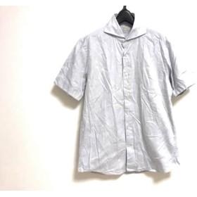 【中古】 アングレー ANGLAIS 半袖シャツ サイズM メンズ ライトグレー