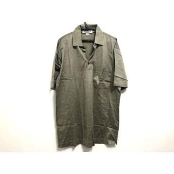 【中古】 ジバンシー GIVENCHY 半袖ポロシャツ メンズ ライトカーキ