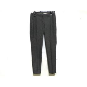 【中古】 セオリー theory パンツ サイズ0 XS レディース 黒 白 千鳥格子