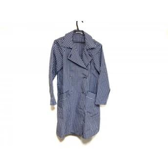 【中古】 マッキントッシュフィロソフィー トレンチコート サイズ38 L レディース 美品 ブルー 白