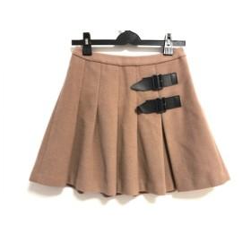 【中古】 トゥービーシック TO BE CHIC ミニスカート サイズ40 M レディース ブラウン プリーツ