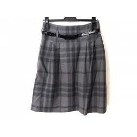 【中古】 バーバリーロンドン スカート サイズ40 L レディース グレー ダークグレー ネイビー