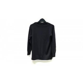 【中古】 ニジュウサンク 23区 長袖セーター サイズ38 M レディース ダークグレー アイボリー