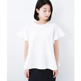haco! いつものデニムスタイルを女っぽくしてくれる Tシャツがわりに便利なカットソートップス by que made me(ホワイト)