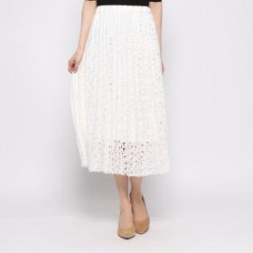 ドレスキップ DRESKIP 花刺繍レーススカート (ホワイト)