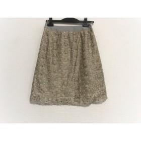 【中古】 マルティニーク martinique スカート サイズ1 S レディース ベージュ グレー 刺繍