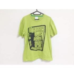 【中古】 キューン CUNE 半袖Tシャツ サイズM メンズ ライトグリーン 黒