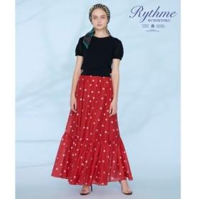 組曲 / クミキョク 【Rythme KUMIKYOKU】ランダムドットプリントボイルスカート