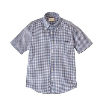 CANTERBURY WOOD(カンタベリーウッド)オックスチェック柄半袖シャツ カジュアルシャツ