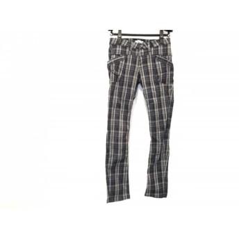 【中古】 アントゲージ antgauge パンツ サイズM レディース 黒 ネイビー グレー チェック柄