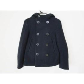 【中古】 オーシバル ORCIVAL Pコート サイズ14 XL レディース ダークネイビー 冬物