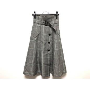 【中古】 マイストラーダ ロングスカート サイズ34 S レディース 美品 ベージュ 黒 マルチ チェック柄