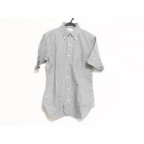 【中古】 ブラックフリース バイ ブルックスブラザーズ 半袖シャツ サイズBB2 メンズ 美品 黒 白