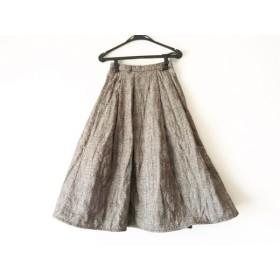 【中古】 ラベンハム ロングスカート サイズ36 S レディース 美品 アイボリー 黒 ブラウン チェック柄