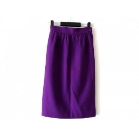 【中古】 イヴサンローラン YvesSaintLaurent スカート サイズM レディース パープル diffusion femmes