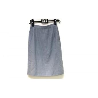 【中古】 ミスアシダ miss ashida スカート サイズ9 M レディース 美品 グレー 白
