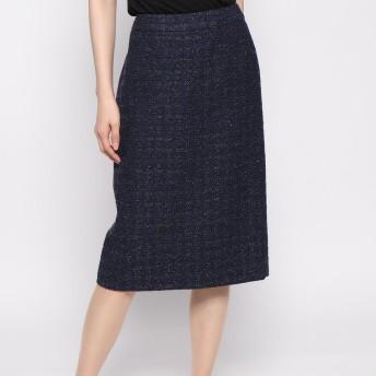 リネーム Rename ツイードタイトスカート (ネイビー)