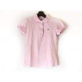 【中古】 ラコステ Lacoste 半袖ポロシャツ サイズ38 M レディース 美品 ピンク