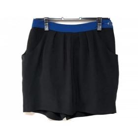 【中古】 ランバンオンブルー LANVIN en Bleu ショートパンツ サイズ36 S レディース 黒 ブルー