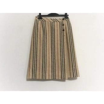 【中古】 バーバリーロンドン Burberry LONDON 巻きスカート サイズ40 L レディース ベージュ 黒 レッド