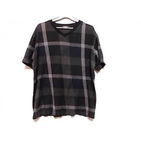 【中古】 ブラックレーベルクレストブリッジ 半袖Tシャツ サイズL メンズ 黒 グレー ダークグレー