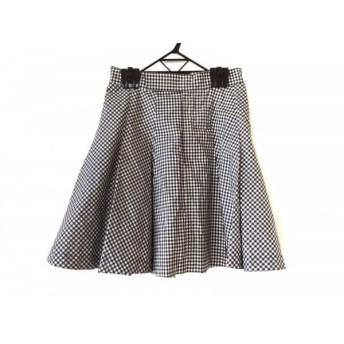【中古】 ジェーンマープル Jane Marple スカート サイズM レディース 黒 白 チェック柄