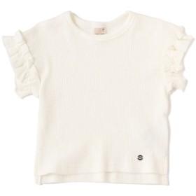 [マルイ]【セール】テレコ袖フリルカジュアルTシャツ/プティマイン(petit main)