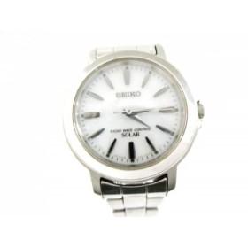 【中古】 セイコー SEIKO 腕時計 3B51-0AN0 レディース 白