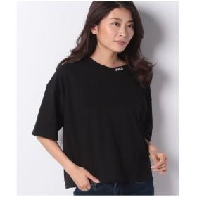 DAISY MERRY FILA衿ロゴ刺繍ポケ付Tシャツ(ブラック)【返品不可商品】