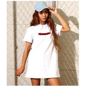 【5%OFF】 アナップ BOX刺繍Tシャツワンピース レディース WH F 【ANAP】 【タイムセール開催中】