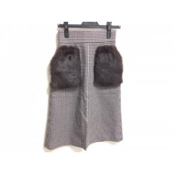 【中古】 マイストラーダ Mystrada スカート サイズ34 S レディース 美品 チェック柄/フェイクファー