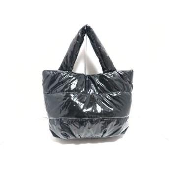 【中古】 プラステ PLS+T(PLST) トートバッグ 黒 コーティングキャンバス