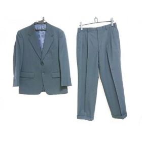 【中古】 カンサイヤマモトオム KANSAI YAMAMOTO HOMME シングルスーツ サイズ94AB4 メンズ 黒 ストライプ