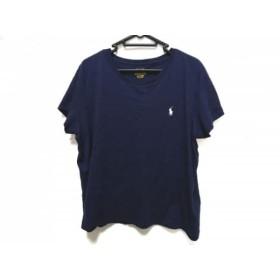【中古】 ポロラルフローレン POLObyRalphLauren 半袖Tシャツ レディース ネイビー