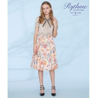 組曲 / クミキョク 【Rythme KUMIKYOKU】pivoine プリント スカート