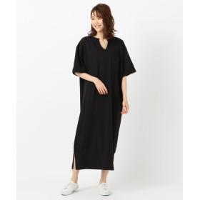 【オンワード】 Field Dream Women(フィールド ドリーム ウィメン) 【Goodwear】オーバーサイズ ワンピース ブラック F レディース 【送料無料】