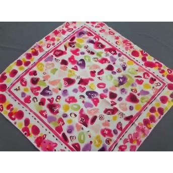 【中古】 ルイヴィトン LOUIS VUITTON スカーフ 70 x 70 cm カレ・ラッキー M72711 カシス シルク100%