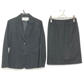 【中古】 ナチュラルビューティー ベーシック スカートスーツ サイズM レディース ダークグレー