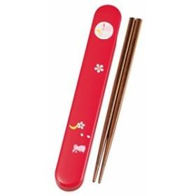 日本製 HAKOYA たつみや 18.0箸箱セット 五彩うさぎ 33138