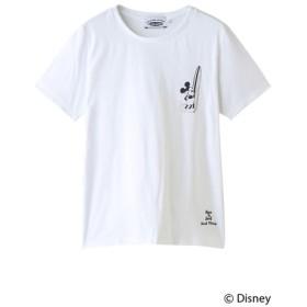 INSHORE インショア 【UNISEX】【SURF MICKEY】Tシャツ BORN TO SURF WHITE