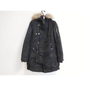 【中古】 バーバリーブルーレーベル Burberry Blue Label コート サイズ38 M レディース 黒 N-3B/冬物