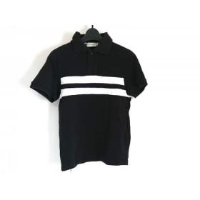 【中古】 モンクレール MONCLER 半袖ポロシャツ サイズXS レディース 黒 白