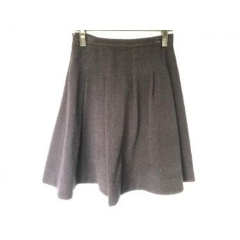 【中古】 アマカ AMACA スカート サイズ38 M レディース ダークネイビー