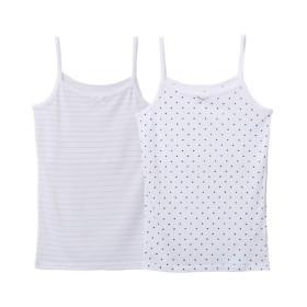 接触冷感 胸二重キャミソール2枚組(女の子 子供服。ジュニア服) キッズ下着